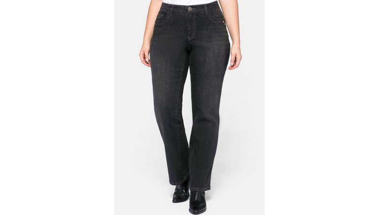 Sheego bootcut jeans VERENA met catfaces
