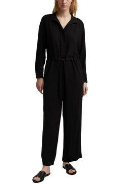 esprit collection jumpsuit met bindstrik in de taille zwart