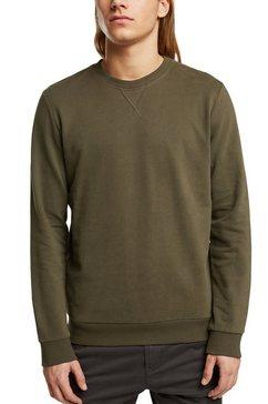 edc by esprit sweatshirt met decoratieve stiksels groen