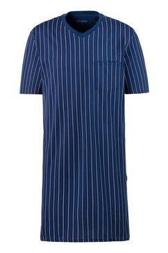 schiesser nachthemd met streepdessin blauw