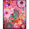 hip plaid nevine met mandala's en bloemen multicolor