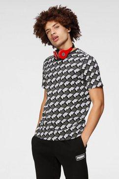 puma t-shirt »aop tee« zwart