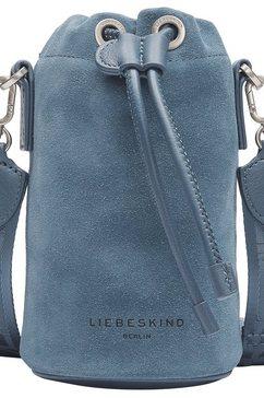 liebeskind berlin buideltas june bucket bag xs in mini-formaat blauw