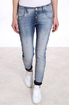 gang slim fit jeans new georgina met half blinde knoopsluiting blauw