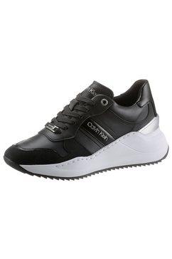calvin klein sneakers met sleehak met zacht verdikte rand zwart