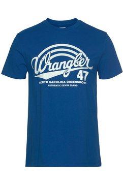 wrangler t-shirt blauw