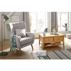 home affaire oorfauteuil yamuna grijs