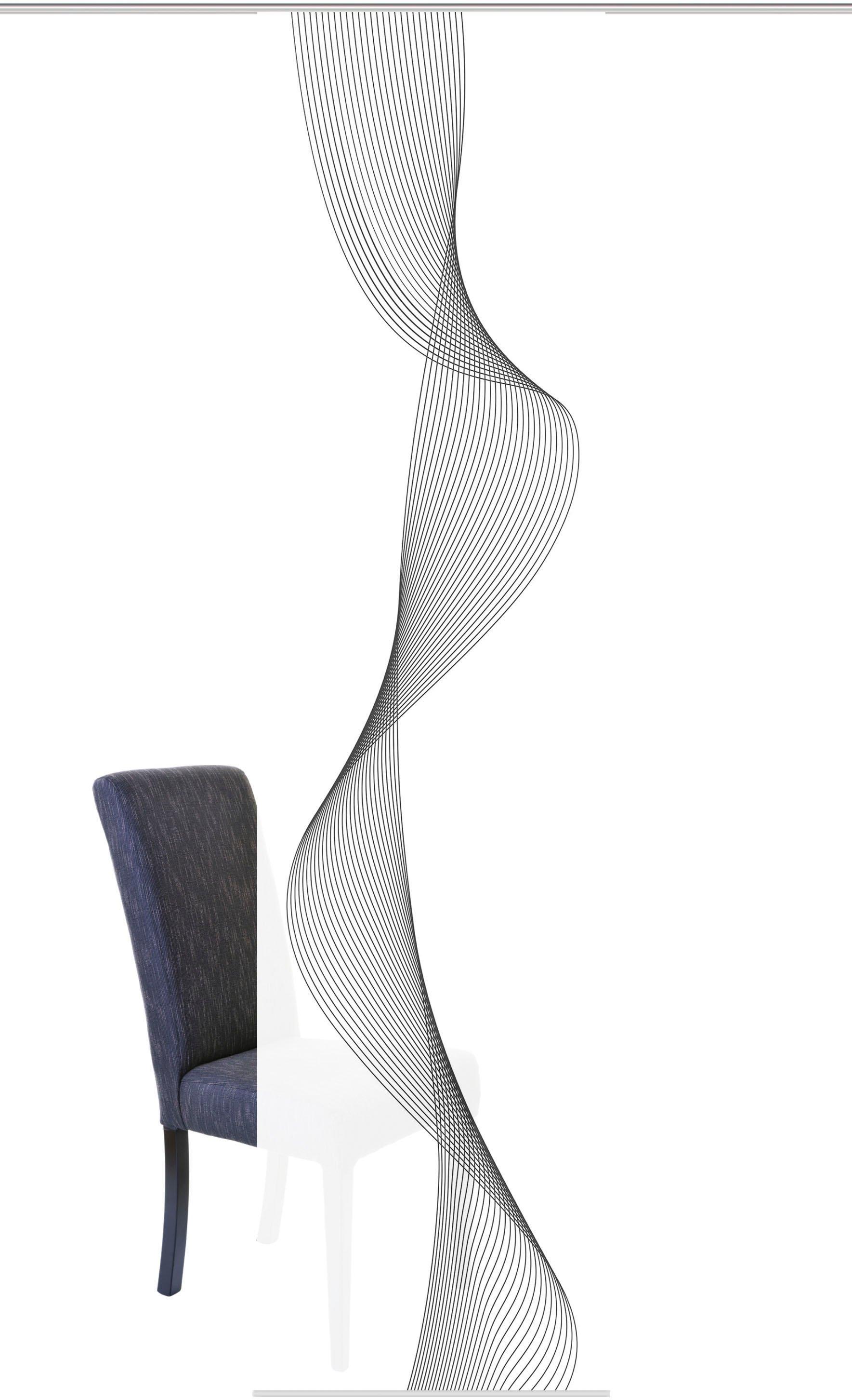 HOME WOHNIDEEN paneelgordijn COLIBA HxB: 245x60, digitale print van decostof (1 stuk) - verschillende betaalmethodes
