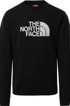 the north face sweatshirt drew peak zwart