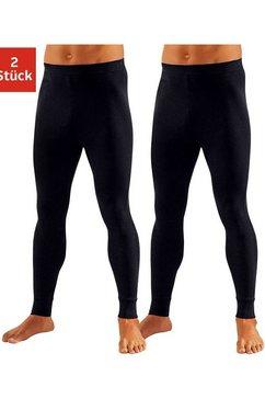 clipper lange onderbroek van zachte single-jersey (2 stuks) zwart