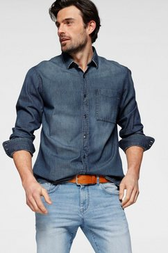 s.oliver jeansoverhemd blauw