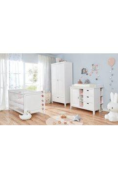 ticaa complete babykamerset morgenrood bed + commode + kast + onderkast (set, 4 stuks) wit