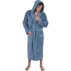 wewo fashion herenbadjas »1023« (met riem) blauw
