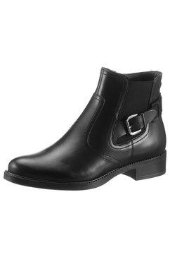 tamaris chelsea-boots in dandy-stijl zwart