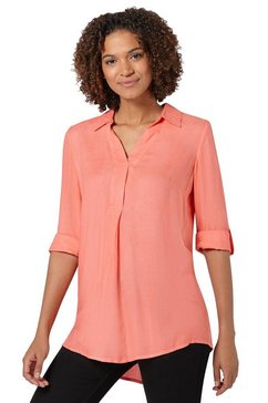 casual looks lange blouse rood