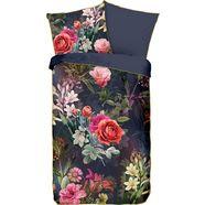 descanso tweezijdig te gebruiken overtrekset simone met bloemen (2-delig) grijs