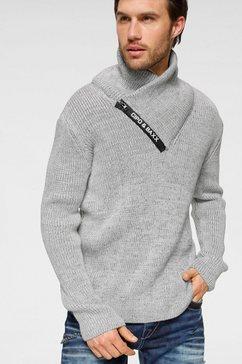 cipo  baxx trui met sjaalkraag grijs