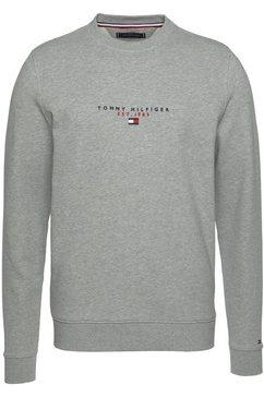 tommy hilfiger sweatshirt essential tommy crewneck grijs