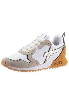 w6yz sneakers met sleehak met contrastdetails wit