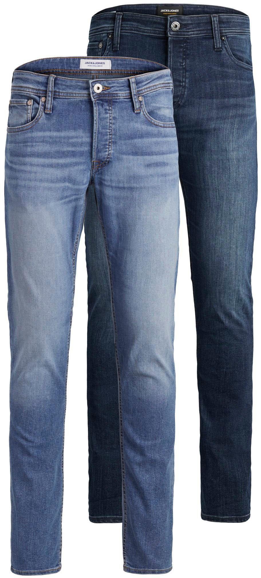 Jack & Jones slim fit jeans GLENN ORIGINAL set van 2 (set, 2-delig, Set van 2) bij OTTO online kopen