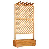 promadino houten trellis »rek met plantenbak 140x200 cm«, pergola met rang doos bxdxh: 140x65x200 cm