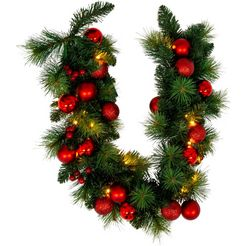 naeve led-lichtsnoer »led-weihnachtslichterkette mit dekoration l: 100cm - rot«