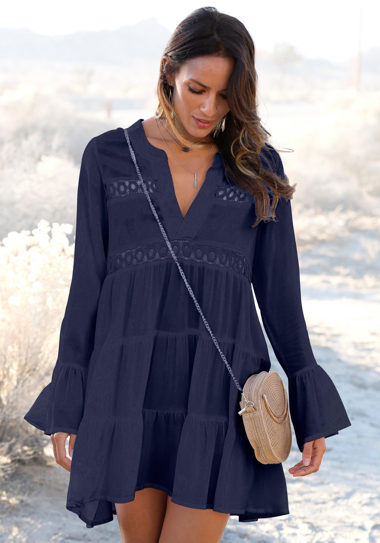 Lascana lange blouse met kanten inzetten bij OTTO online kopen
