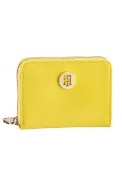 tommy hilfiger portemonnee in praktisch formaat geel
