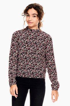 garcia klassieke blouse met all-over bloemenprint zwart