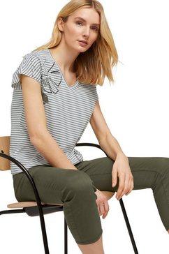 tom tailor shirt met v-hals met print wit
