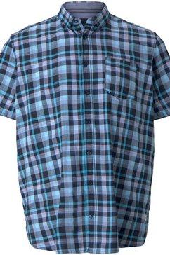 tom tailor men plus overhemd met korte mouwen met borstzak blauw
