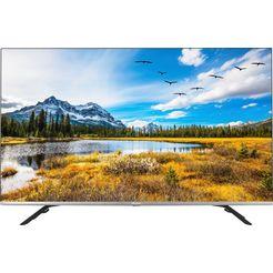 "hisense qled-tv 55e76gq, 139 cm - 55 "", 4k ultra hd, smart-tv grijs"