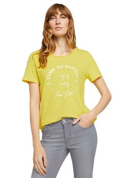 tom tailor t-shirt met print-artwork geel