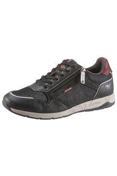 mustang shoes sneakers in de materiaalmix grijs