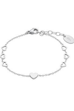 s.oliver junior edelstalen armband »herzen, 2028445« zilver