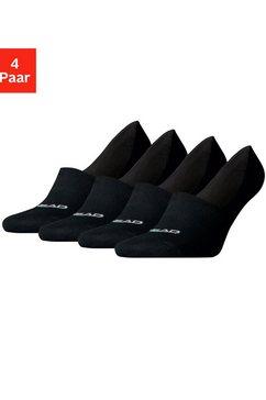 head kousenvoetjes met hoge wreef (4 paar) zwart