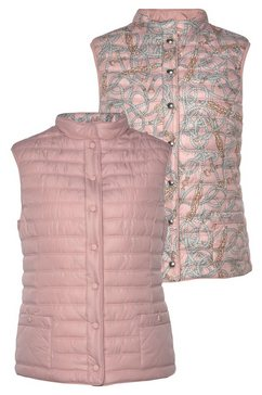 barbara lebek bodywarmer aan beide kanten te dragen: unikleur  modieus gedessineerd roze