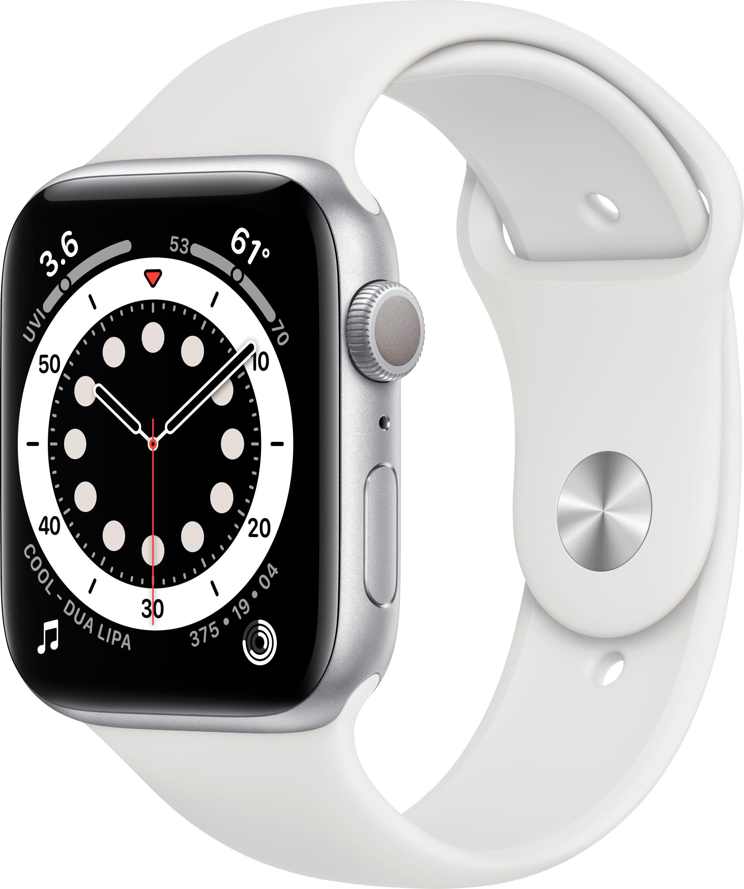 Apple watch Series 6 gps, aluminium kast met sportbandje 44 mm inclusief oplaadstation (magnetische oplaadkabel) voordelig en veilig online kopen