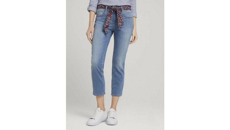 Tom Tailor slim fit jeans Alexa Slim 7/8-jeans met biokatoen