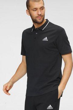 adidas performance poloshirt »aeroready essentials piqué small logo« zwart