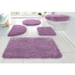 badmat »sanremo«, my home, hoogte 30 mm, met antislip-coating, geschikt voor vloerverwarming paars