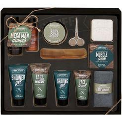 man'stuff reinigingsset voor de huid mega man drawer (12-delig) bruin