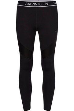 calvin klein performance functionele legging wo - full length tight met calvin klein elastische band  monogram zwart
