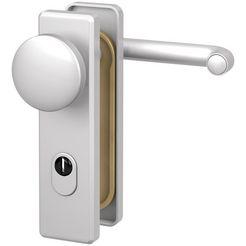 basi deurbeslag »es1 wechselgarnitur, aluminium silber«, brandwerend deurbeslag fs 2200 zilver