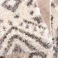 carpet city hoogpolig vloerkleed pulpy 541 met franje, woonkamer beige