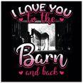 artland print op glas motto voor ruiters en paardenfans (1 stuk) roze