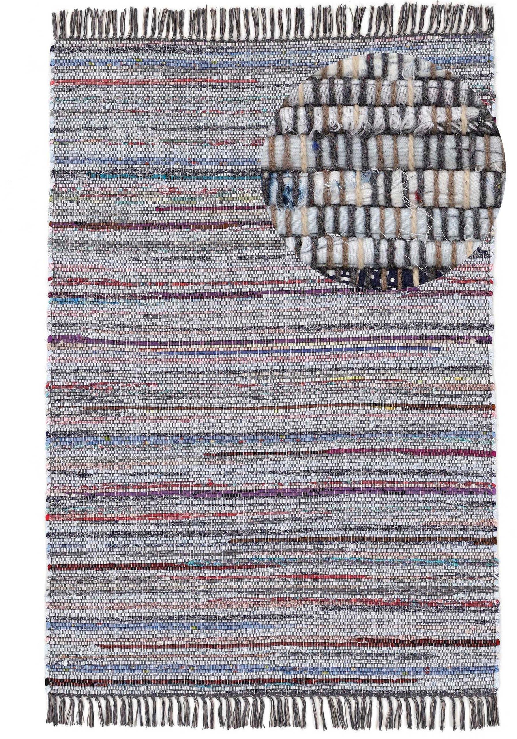 carpetfine vloerkleed Kelim Chindi Platweefsel tweezijdig te gebruiken kleed met franje, woonkamer nu online kopen bij OTTO