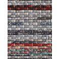 carpetfine vloerkleed kelim chindi platweefsel tweezijdig te gebruiken kleed met franje, woonkamer grijs