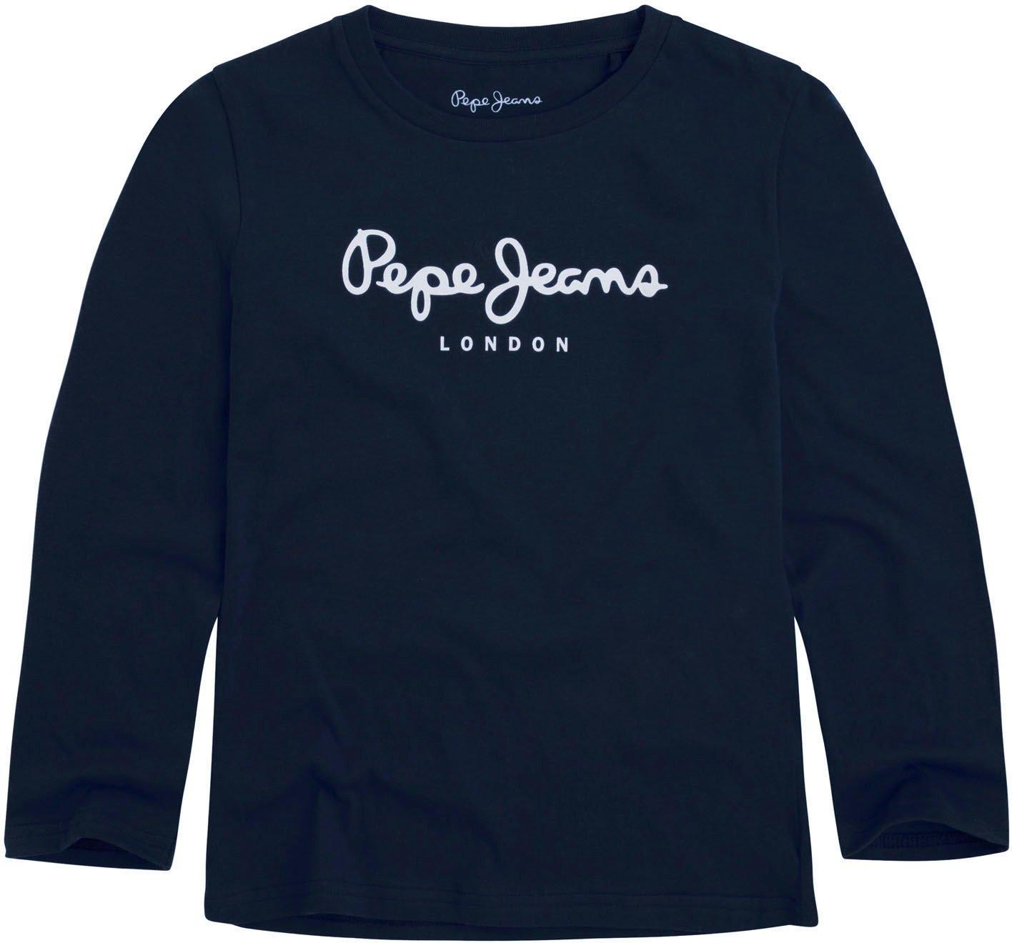 Pepe Jeans shirt met lange mouwen »NEW HERMAN JR« in de webshop van OTTO kopen
