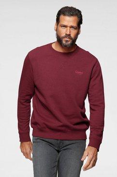 man's world sweatshirt in een katoenmix rood